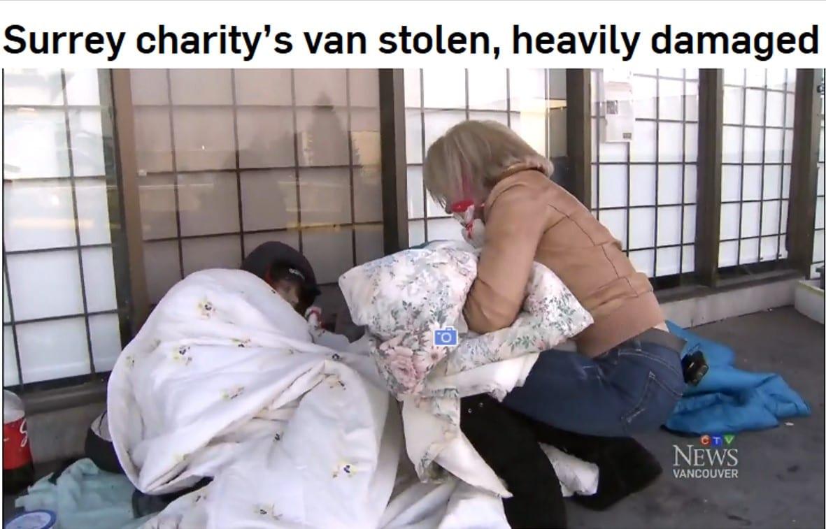 Surrey charity's van stolen - CTV