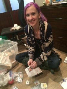 Mandee Mramor collecting donations for Selah drop-in